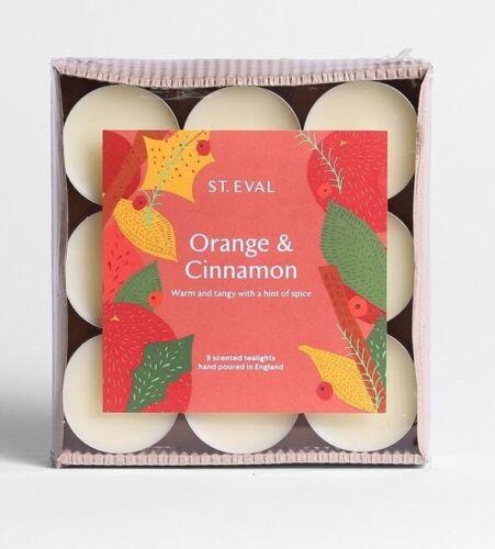 """St Eval /""""Orange /& Cannelle/"""" parfumée Noël bougies chauffe-plat deux paquets de 9 18 total"""