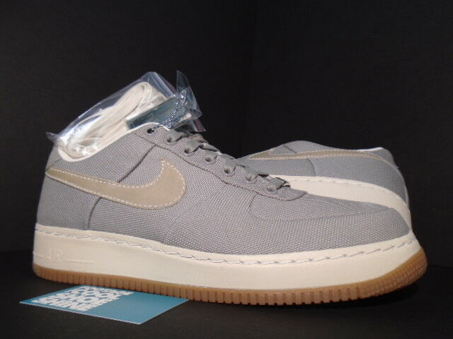 2007 Nike Air Force 1 Low SUPREME '07 CANVAS COOL GREY WHITE GUM 316133-011 11