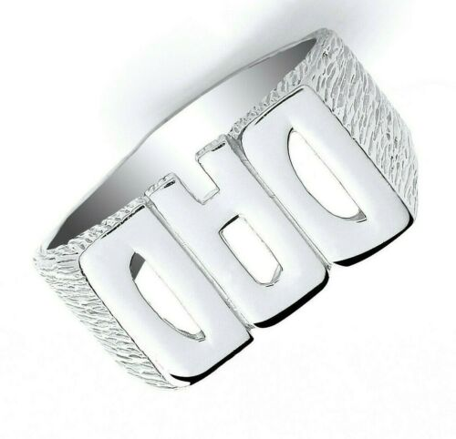 Details about  /Sterling Silver DAD Ring 925 Full Hallmark British Made Fathers Day