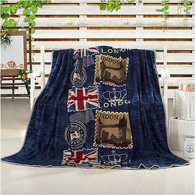 Flannel Soft Plush Luxury Bed Sleep Throw & Blanket FLAG