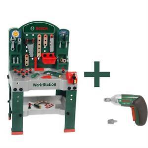 Theo-Klein-8583-Bosch-Mesa-de-trabajo-accesorios-taladro