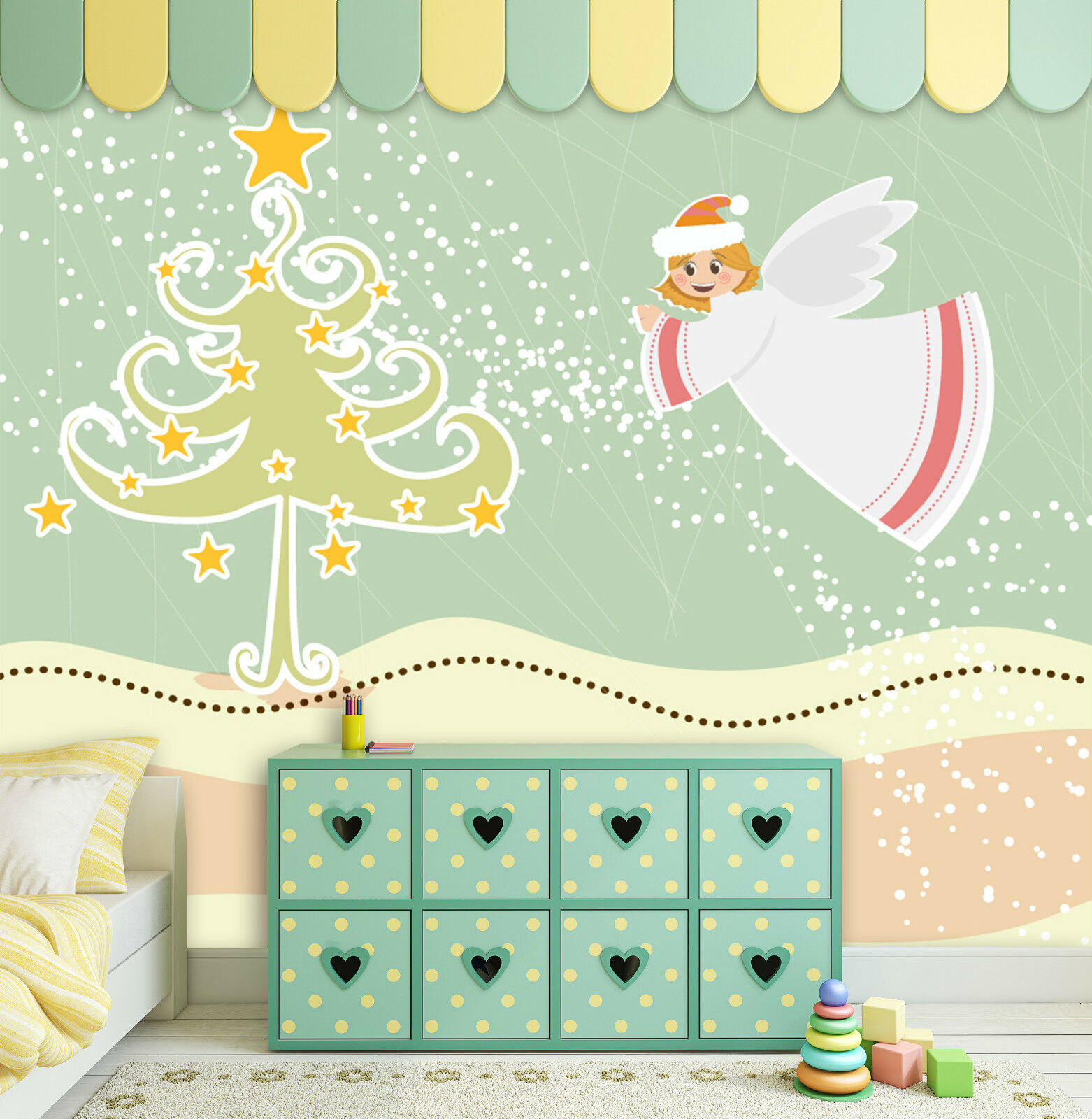 3D Fairy Christmas Tree 454 Wall Paper Wall Print Decal Wall Deco Indoor Wall