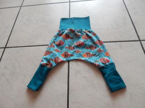 Mitwachshose-Pantalon Bouffant De Jersey perolfarben avec poissons
