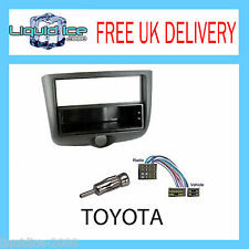 CT23TY11 TOYOTA YARIS 1999 to 2003 BLACK DOUBLE DIN FASCIA FACIA ADAPTER KIT
