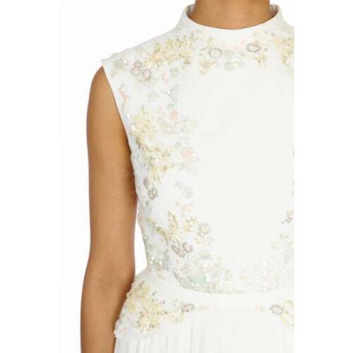 White Impreziosito 8 Bnwt Blooms Coast £ Dress Prom Botanical 295 Winter Rrp Size qwgpgEX