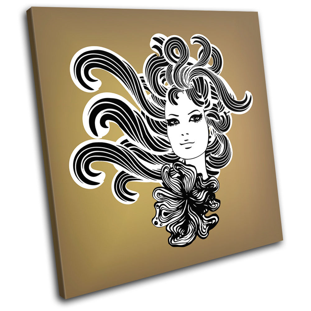 Girl Hair Fashion SINGLE TELA parete arte foto stampa