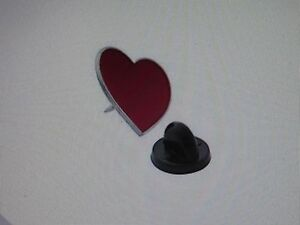 24 Red Heart Pins Valentine Lapel Pin Valentines Day Hearts February