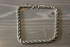 Thick Danecraft Gold over Sterling Rope Chain Bracelet 8 inch