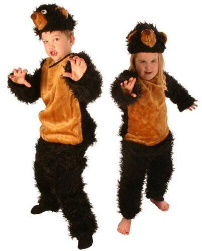 Fuzzy Orso Bruno Gruffalo Boy/'s Girl/'s Libro Settimana Costume 3-5 /& 6-8