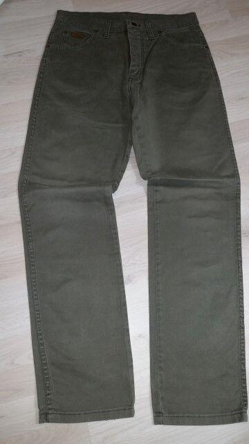 H2956 Wrangler Texas Jeans W32 Grün  Sehr gut  | Sonderkauf