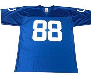 Indianapolis Colts Marvin Harrison 88 NFL Mens Jersey Blue V-Neck Short Sleeve L