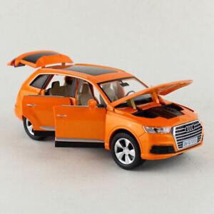 AUDI-Q7-SUV-1-32-Modelo-de-Coche-Diecast-Juguete-Ninos-Regalo-Sound-amp-Light-Tire-hacia-atras