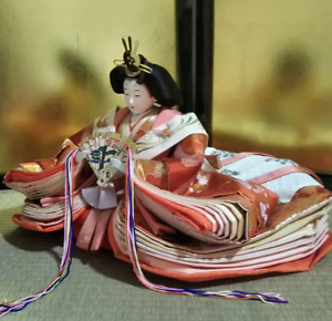 Vintage-Japanese-Hina-doll-Princess-Queen-in-Kimono-years-Figure-Plush-10-034