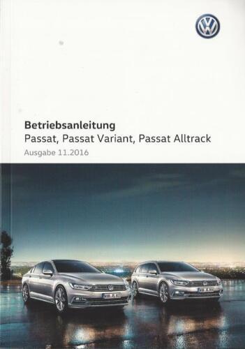 Automobilia PASSAT VARIANT B8 2016 2017 Betriebsanleitung ...