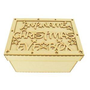 Personalizzata-in-LEGNO-MDF-Vigilia-di-Natale-Scatola-Notte-Prima-Di-Natale-Regalo-CP43