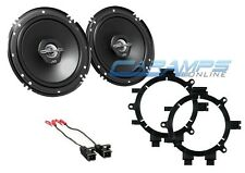 """JVC 6.5"""" CHEVY GMC FULL SIZE TRUCK FRONT DOOR SPEAKERS W/ BRACKETS AND HARNESS"""