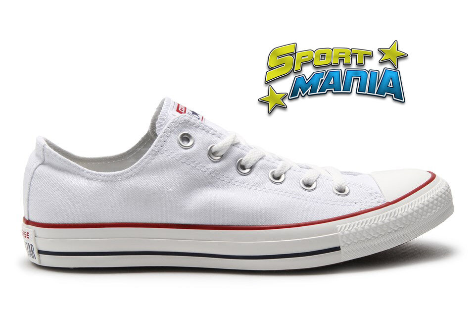 Converse All Star OX Bianco Sneakers optical White Scarpe Sportive Sneakers Bianco M7652C 2406df