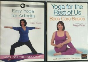 2 peggy cappy dvd lot easy yoga for the rest of us back