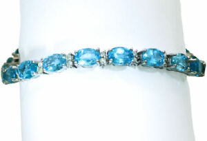 20-46ct-Blue-Topaz-amp-Diamond-Bracelet-in-14K-White-Gold