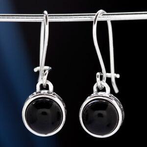 Onyx-Silber-925-Ohrringe-Damen-Schmuck-Sterlingsilber-H0562