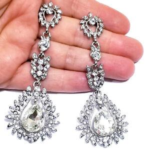 Chandelier-Earrings-Rhinestone-Clear-Crystal-3-6-inch