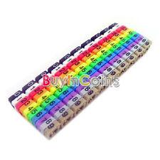 Lots RJ45 RJ11 RJ12 Color Numeric Cable Label Mark Practical YU