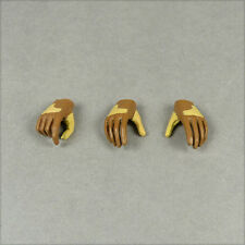 1/6 Scale VeryCool - Female Gestured Light Brown Gloved Hands x 3 Pieces