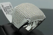 2.25 CARAT MENS WHITE GOLD FINISH GENUINE DIAMOND ENGAGEMENT WEDDING PINKY RING