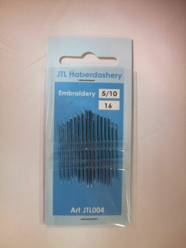 JTL Haberdashery Hand Sewing Needles Choice of Type