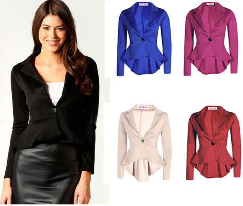 Women OL Work Office Lady Long Sleeve Formal Blazer Suit Jacket Coat Outwear Top