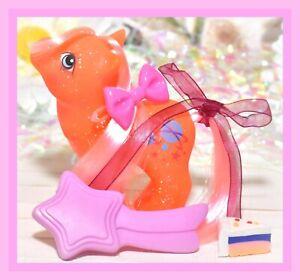 My-Little-Pony-MLP-G1-Vtg-BABY-SPARKLE-NORTH-STAR-Glitter-Pink-Hair-BRUSH
