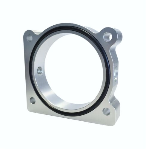 Torque Solution Throttle Body Spacer Silver Ford F-150 3.5L Ecoboost 3.7L V6