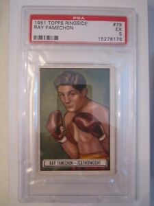 1951-RAY-RAMECHON-BOXING-CARD-79-TOPPS-RINGSIDE-PSA-GRADED-EX-5