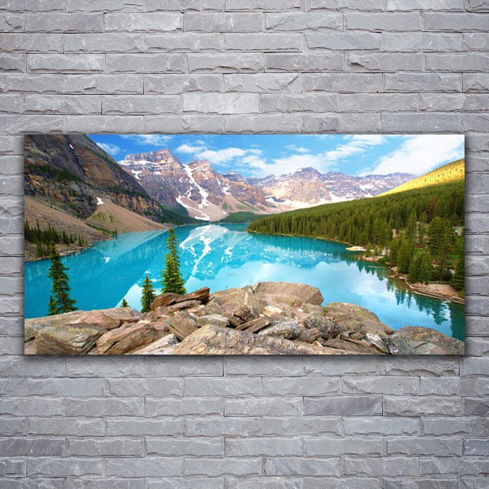 Impression sur verre Wall Art 120x60 Photo Image montagnes Seewald Nature