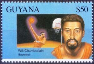 Guyana 1993 MNH, Wilt Chamberiain Basketball, Sports