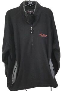 Antigua-Black-1-2-Zip-Textured-Fleece-Men-039-s-2XL-Bonterra-Vineyards-Zip-Pockets
