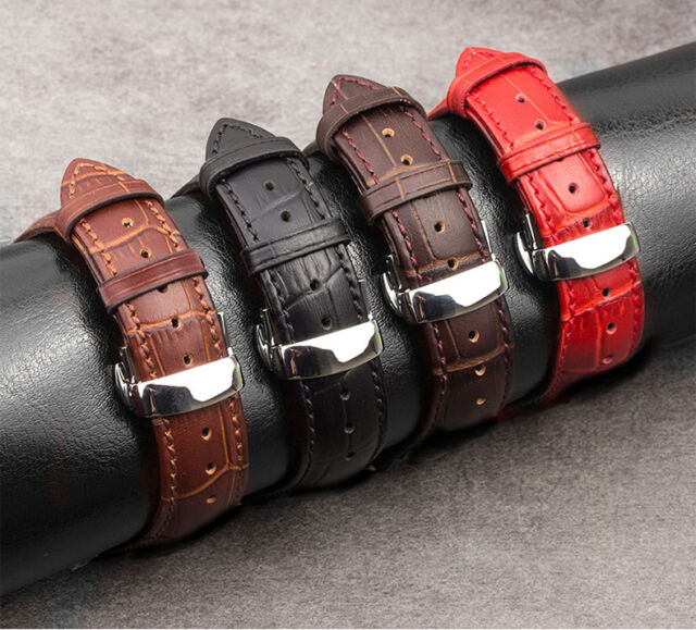 Qialino Genuine Leather Strap Steel Buckle Watchband Watch Band for Apple Watch