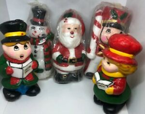 Vintage Christmas Candles.Details About 5 Vintage Christmas Candles Snowman Santa Carol Figurines Gifts Korea 3 Sealed