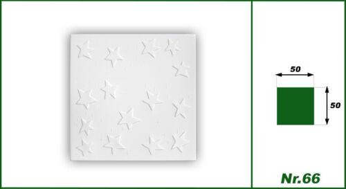 10 qm Styroporplatten Deckenplatten Stuck Platten Decke Dekor 50x50cm Nr.66