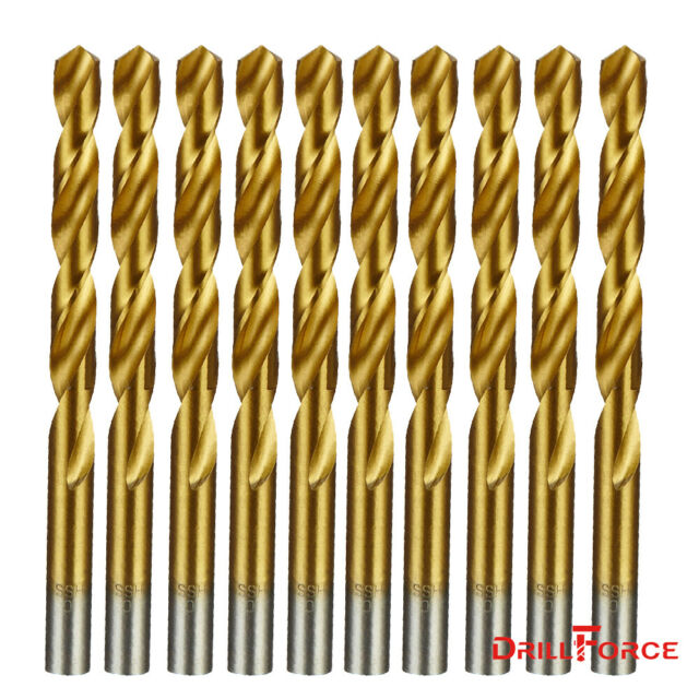 "12PCS 7//32/""x3-3//4/"" Black//Gold Drill Bits Set HSS Jobber Length Metal Drill Bit"