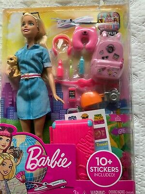Daisy Uk Barbie Baby Girl Toy Toys Travel Doll 10 Accessories Gift 3