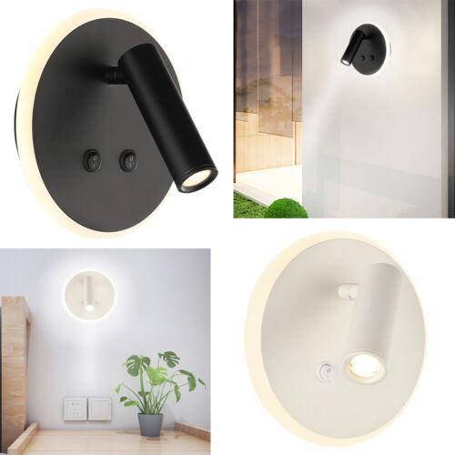 Runde LED Wandleuchte Spiegelscheinwerfer Metall Wandlampe 7W Effektlampe Innen