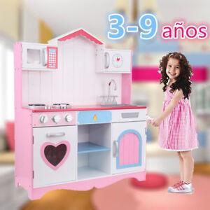 Cocinita De Juguete Rosa De Madera Juegos Educativos Para Ninos
