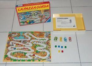 LA-PAZZA-CORSA-Ravensburger-1988-Automobilismo-Ciclismo-Pattini-Moto