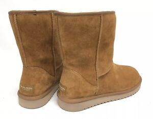 7527056ba0f Details about Koolaburra Koola Short Chestnut Boots Suede Sheepskin 1017090  Women's Winter