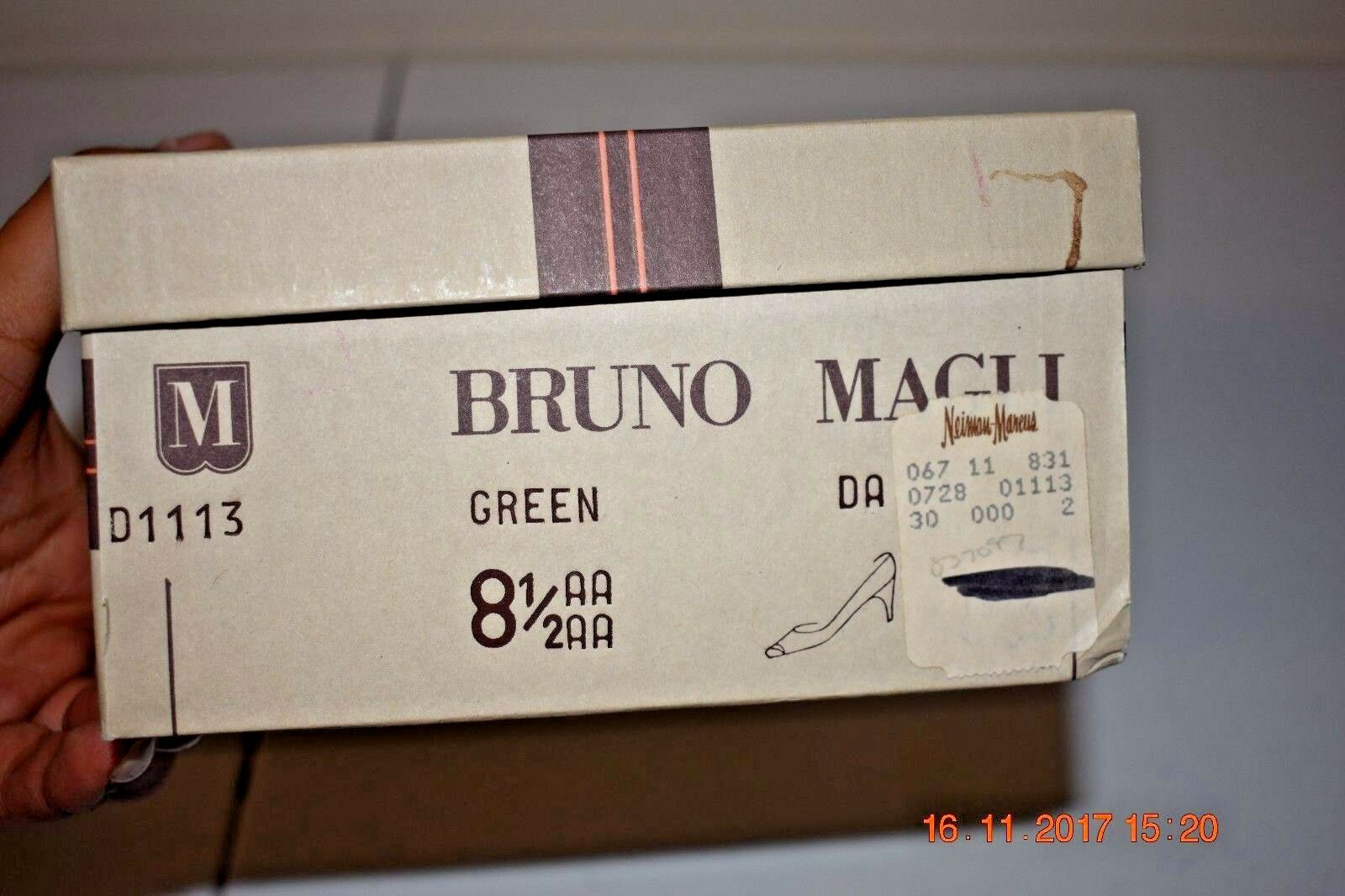 NIB Damenschuhe 8 B.5 Bruno Pumps Magli Green Leder Heels Pumps Bruno 18185e