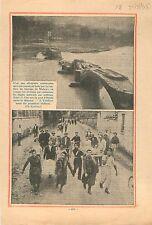 Flood Crue Inondation Barrage Diga de Molare Ponte d'Ovada  1935 ILLUSTRATION