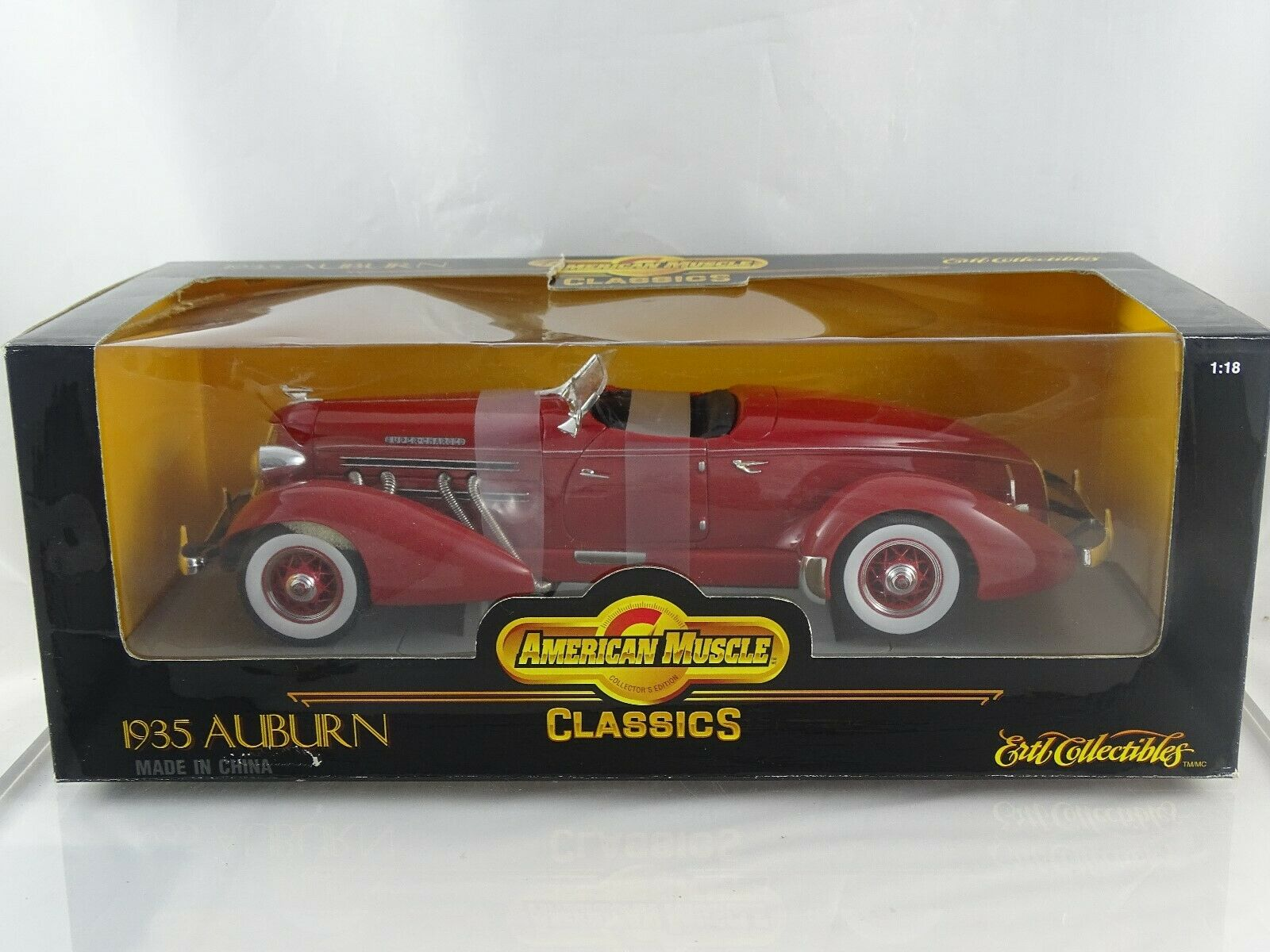 1 18 Ertl American Muscle Auburn rojo Nueva   Ovp