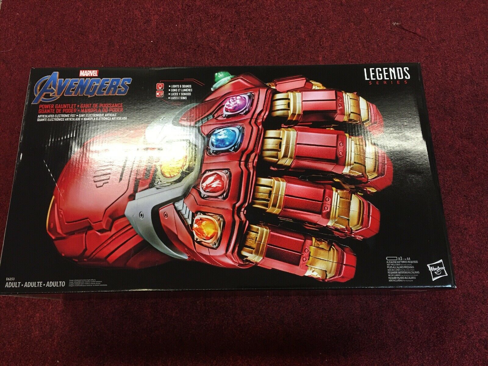 Marvel Legends Series Avengers energia Gauntlet Articulated Electric Fist nuovo L@@K