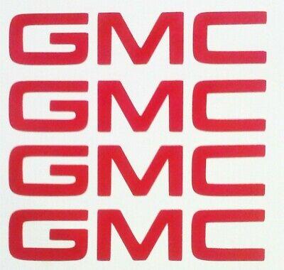 GMC WHEEL RIM CENTER CAP LOGO AFTERMARKET OEM DECAL STICKER VINYL SET 5